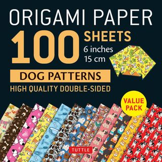 Origami Paper 100 Sheets: Dog Patterns