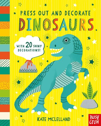 Press Out and Decorate: Dinosaurs