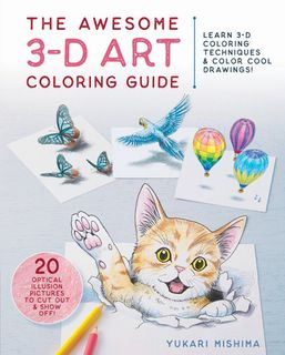Awesome 3-D Art Coloring Guide