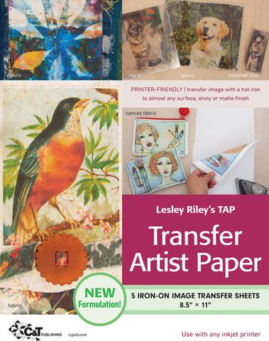 Lesley Riley's TAP Transfer Artist Paper, 5 Sheet Pack