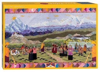 Free Tibet Quilt Jigsaw Puzzle