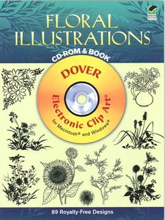 Floral Illustrations CD-ROM & Book
