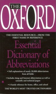 Oxford Dictionary of Abbreviations