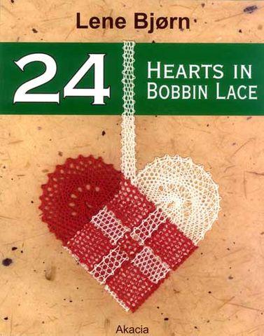 24 Hearts in Bobbin Lace