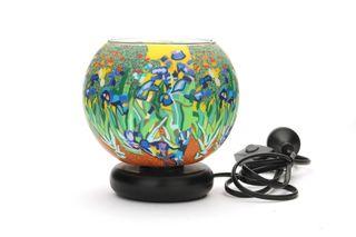 Glass Electric Lamp, Irises