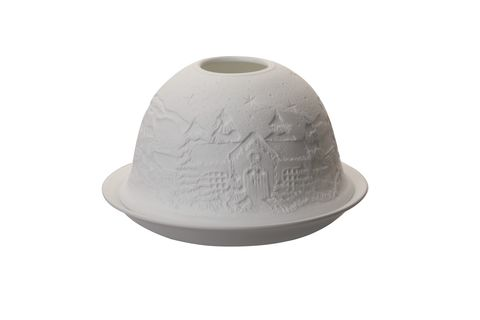 Porcelain Dome Light Winter Village
