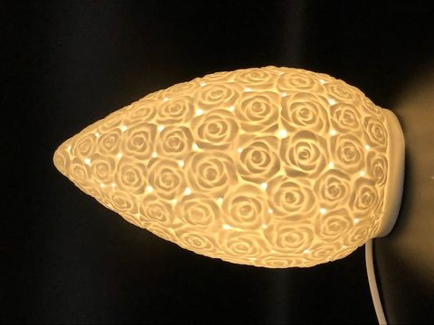 Porcelain Electric Lamp 26.5x16x16 Centerpiece