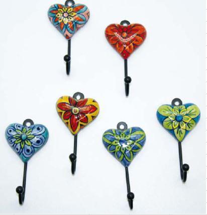 Hook Flower Heart Sml Set of 12