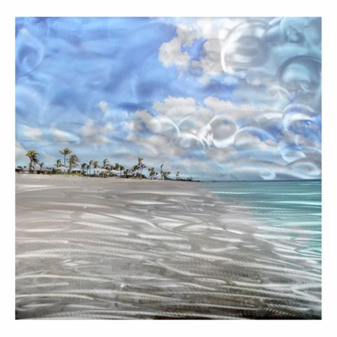 Cloudy Bay Aluminium Wall Art 80X80