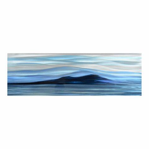 Island Calm Aluminium Wall Art 40X120