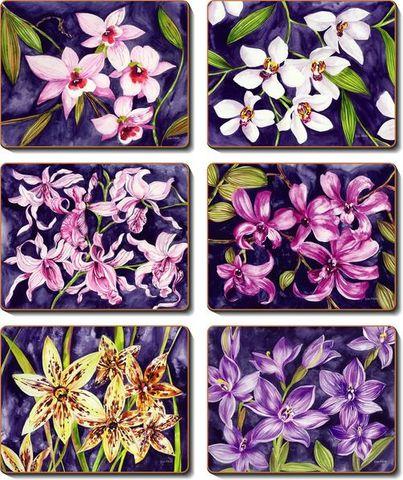 Coasters Orchid Garden 12x10 cm