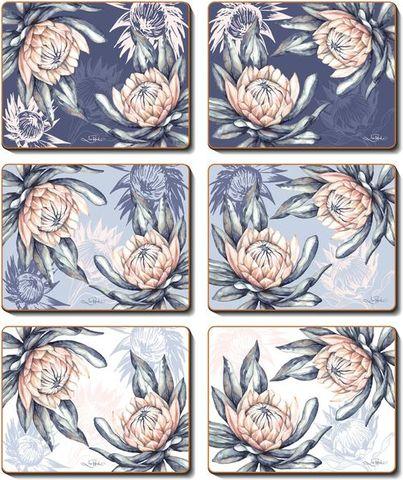 Coasters Protea 12x10 cm