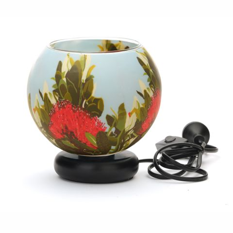 Glass Electric Lamp, Pohutukawa Blush