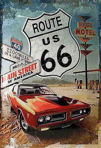 Tin Sign 30x20 Route 66