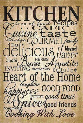 Tin Sign 30x20 Kitchen