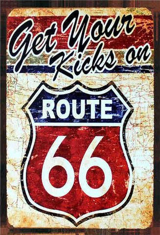 Tin Sign 30x20 Kicks on Route 66