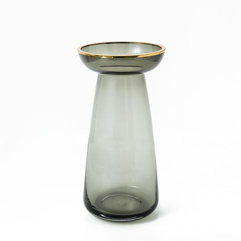 Nouvel Gold Top Glass Vases - Medium