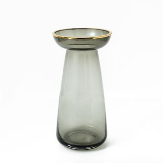 Nouvel Gold Top Glass Vases - Medium