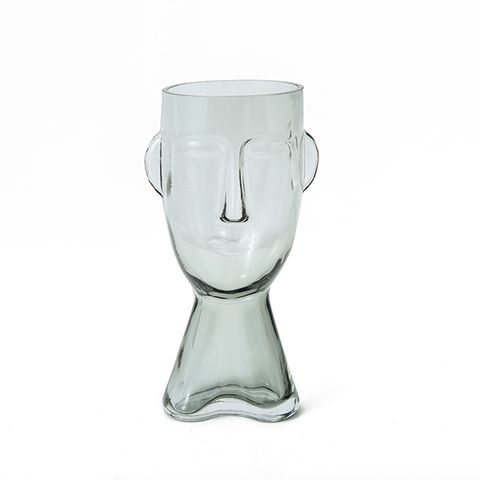 Claydon & Brook Glass Face Vases - Claydon Large - Clear