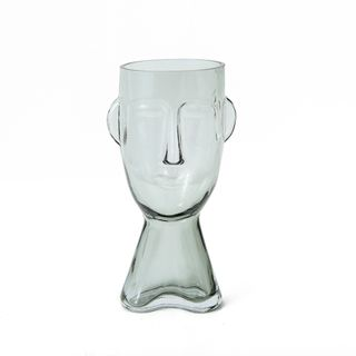 Claydon & Brook Glass Face Vases - Claydon Large - Clear