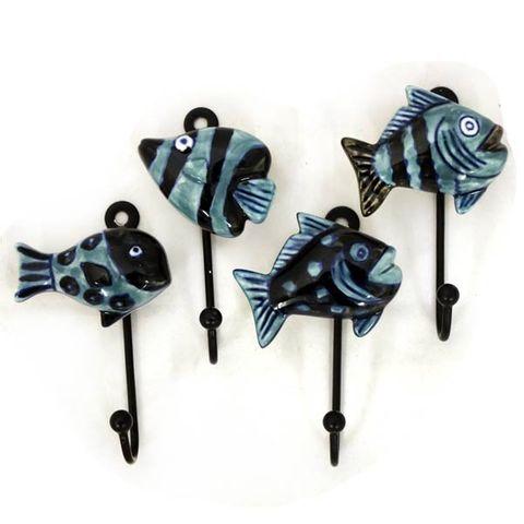 Hook Blue Fish Sml Set of 12