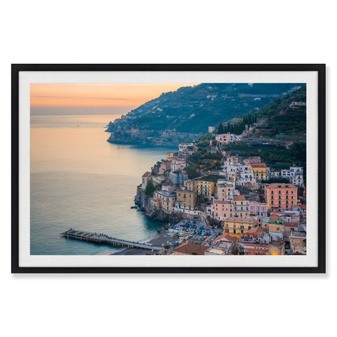 Italian Sunset Framed Canvas Print 90x60 cm