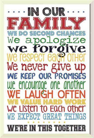 Tin Sign 30x20 Family