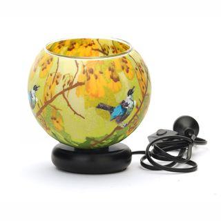 Glass Electric Lamp, Kowhai Tui