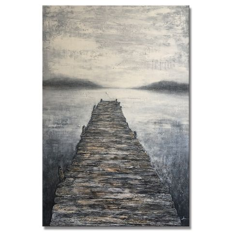 The Lake Pier Oil Painting 120x90