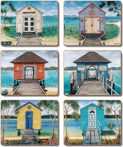 Coasters Boathouses 12x10 cm