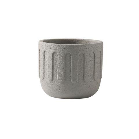 Icicle Cement Planter Mist Grey 18x18x15.5