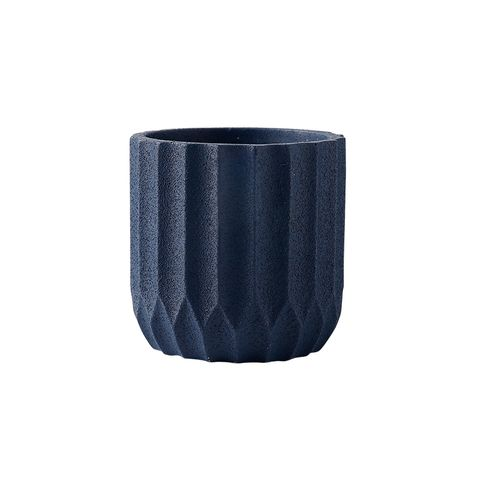 Origami Cement Planter Ocean Blue 17.5x17.5x18