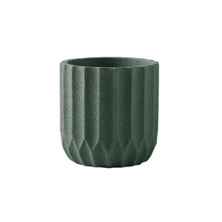 Origami Cement Planter Lake Green 17.5x17.5x18