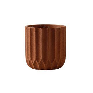 Origami Cement Planter Sienna 17.5x17.5x18