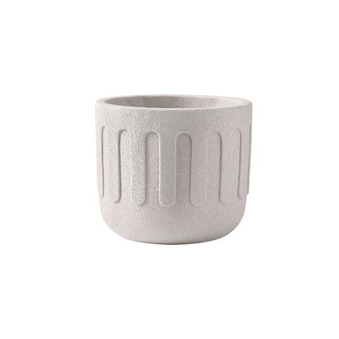 Icicle Cement Planter Frost White 18x18x15.5
