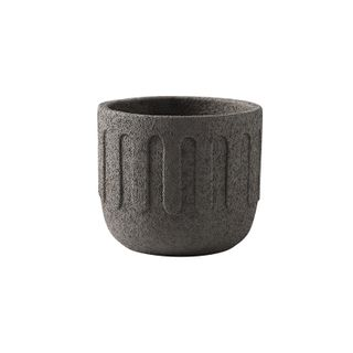 Icicle Cement Planter Charcoal 15x15x13