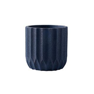 Origami Cement PlanterOcean Blue 14.5x14.5x15