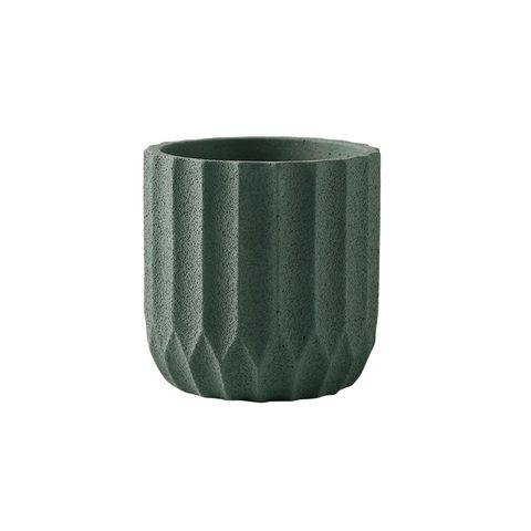 Origami Cement Planter Lake Green 14.5x14.5x15