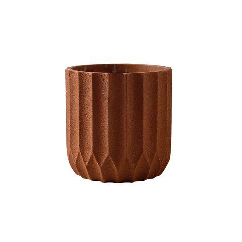 Origami Cement Planter Sienna 14.5x14.5x15