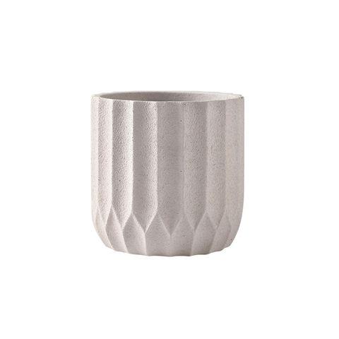 Origami Cement Planter Frost White 14.5x14.5x15