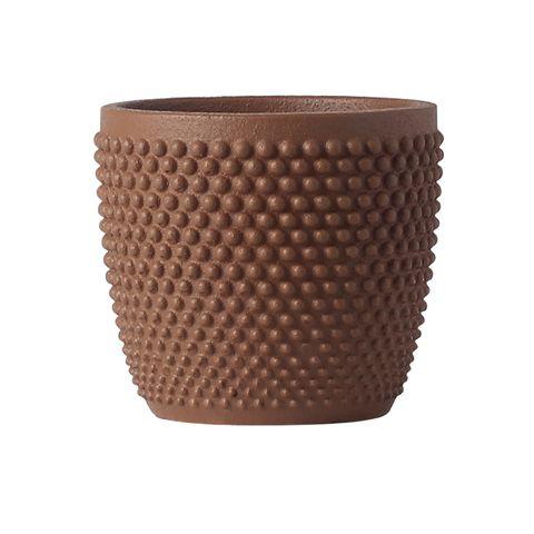 Modern Textured Planter Sienna 16.7x16.7x15.2