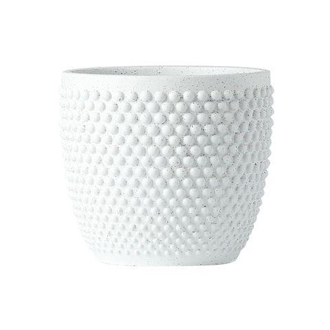 Modern Textured Planter Frost White 13.6x13.6x12.5