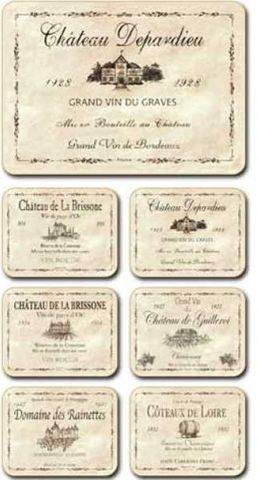 Placemats Wine Labels 36.5x27.5 cm
