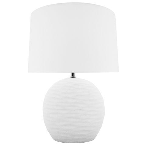 Round Kima Lamp B&S White 15.5x54 cm
