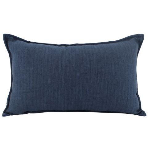Linen Navy Cushion 30x50cm