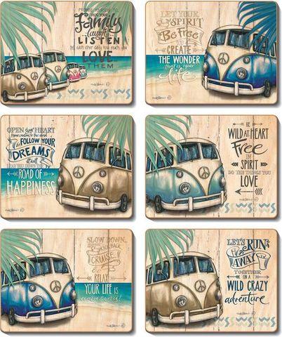 Coasters Vintage Combi 12x10 cm