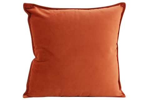 Velvet Cushion Burnt Orange 55x55cm