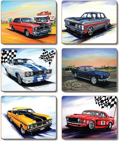Coasters Ford Muscle 12x10 cm