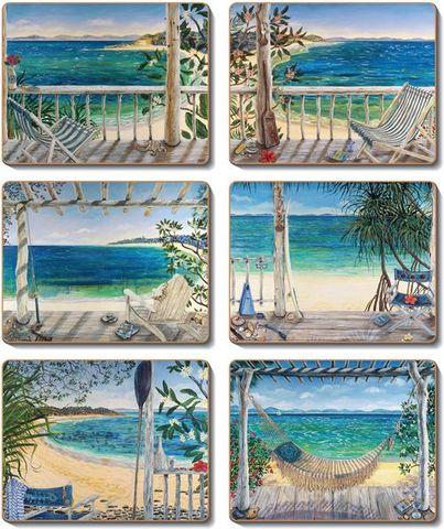 Coasters Beach Balconies 12x10 cm