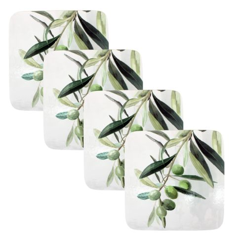 S/4 Olive Branch Coasters 10x10cm